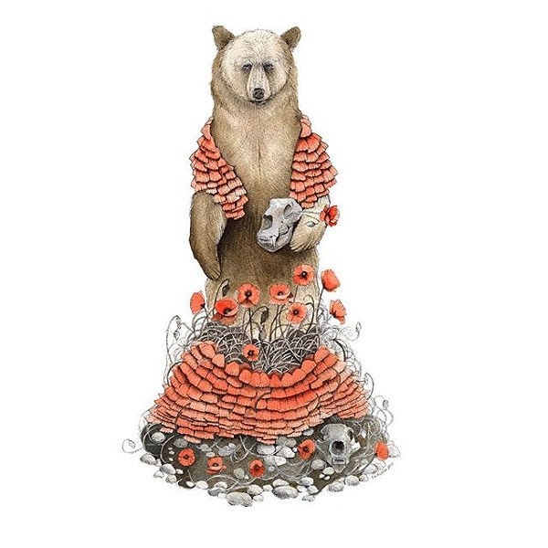 """The Bear and the Poppies"" by Jess Polanshek - COURTESY OF JESS POLANSHEK"