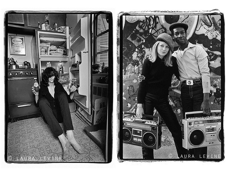 Talking Heads' Tina Weymouth and Grandmaster Flash; Joey Ramone - PHOTOS COURTESY OF LAURA LEVINE