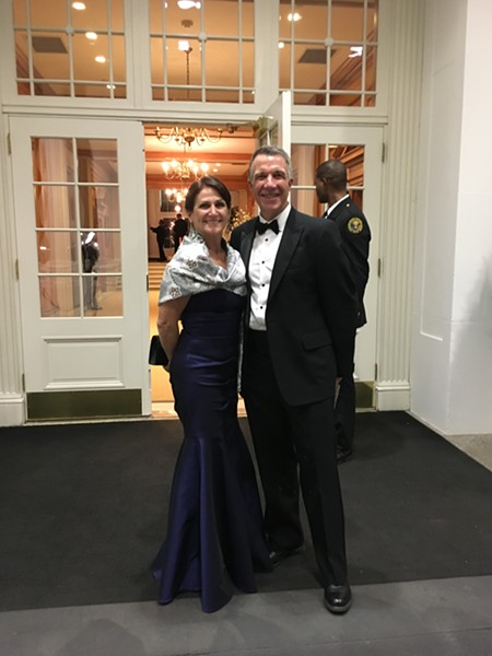 Gov. Phil Scott and his wife, Diana, at the White House - COURTESY OF THE GOVERNOR'S OFFICE