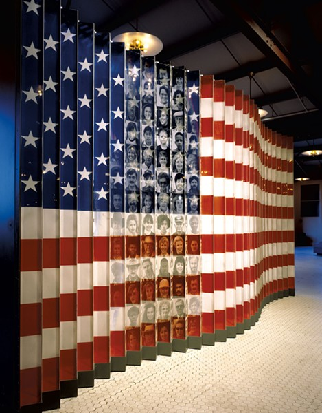"""American Flag of Faces"" exhibit, Ellis Island, N.Y., circa 1990-2011 - COURTESY OF MIDDLEBURY COLLEGE OF ART"