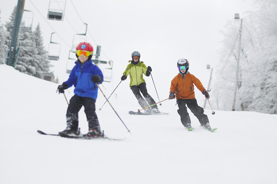 Skiers at Bolton - COURTESY BOLTON VALLEY RESORT