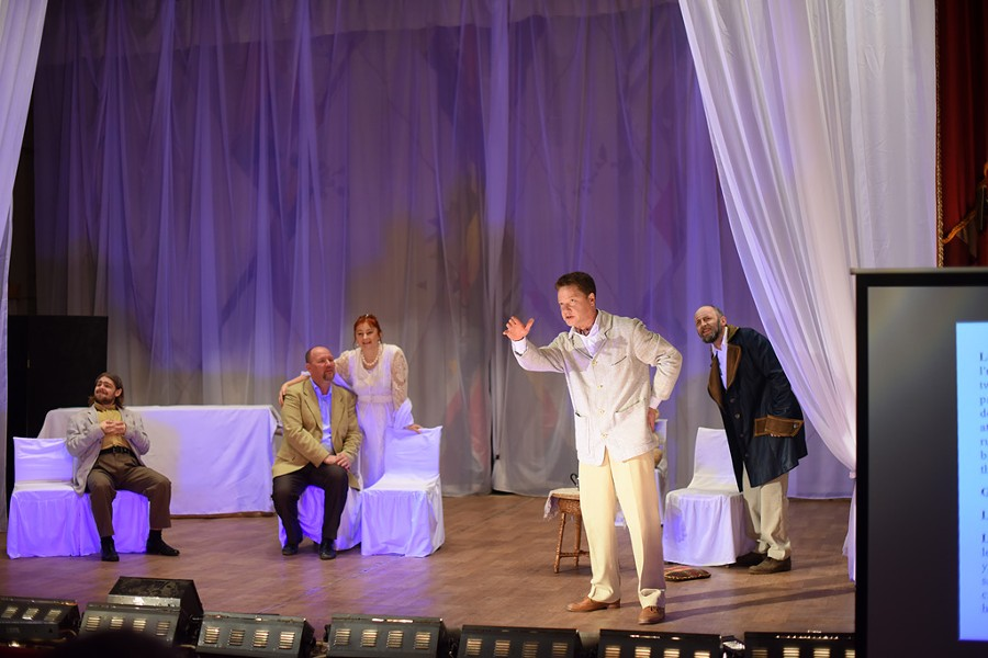 Atmosphere Theater Troupe performing The Cherry Orchard in Yaroslavl - COURTESY OF DAVID SEAVER