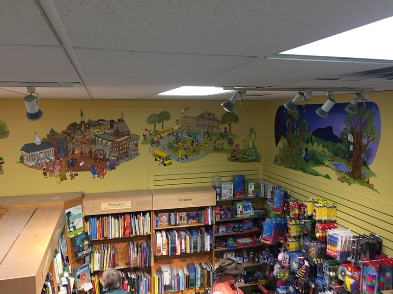 Mural by Kristin Richland at Phoenix Books Burlington (detail) - MARGOT HARRISON
