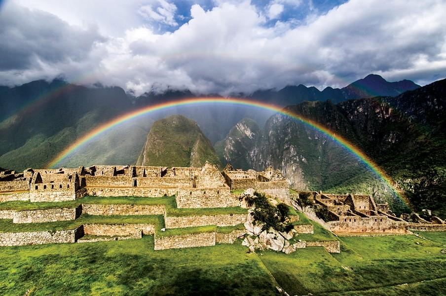 "Greg Danford, ""Rainbow Over Machu Picchu"""