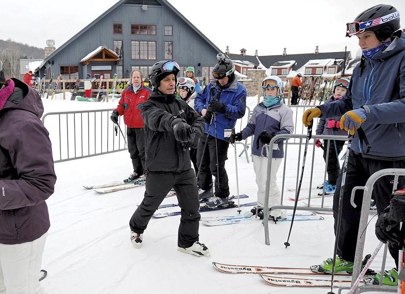 Adam Greshin works a lift line at Sugarbush Resort in January 2015. - FILE: JEB WALLACE-BRODEUR