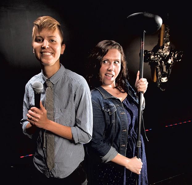 Hillary Boone (left) and Nichole Magoon - MATTHEW THORSEN
