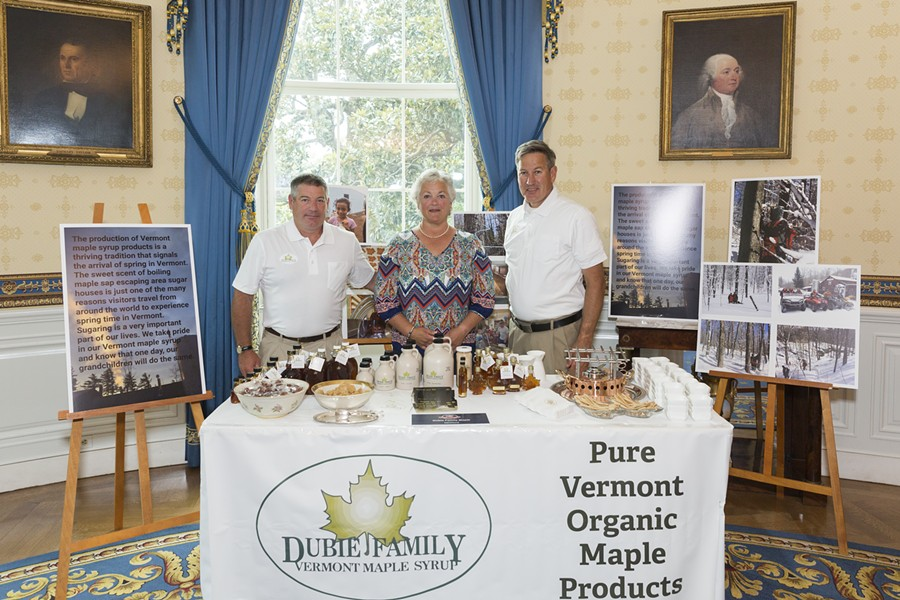 Mark Dubie, Marianne Dubie and Brian Dubie (left to right) at the White House on Monday - OFFICIAL WHITE HOUSE PHOTO BY ​MICHAEL LYON
