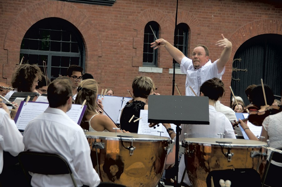 Michael Dabroski conducting at the Vermont Mozart Festival - COURTESY OF STEPHEN MEASE