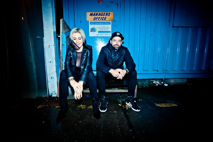 Phantogram's Sarah Barthel and Josh Carter - COURTESY OF WOLF JAMES