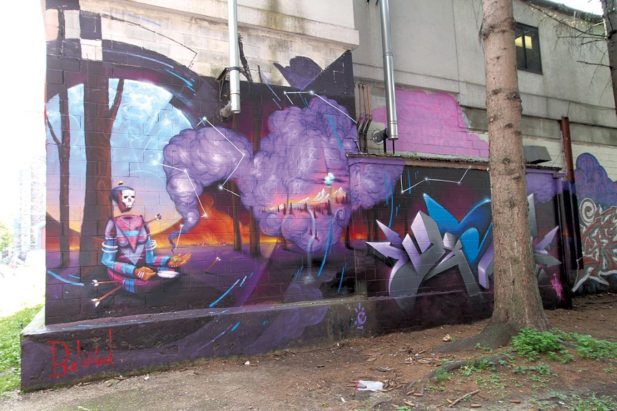 Mural by Monk.E - COURTESY OF ANTHILL COLLECTIVE
