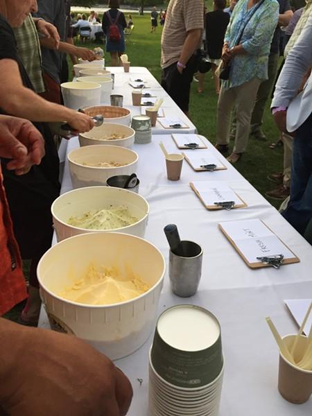 Ice cream lineup - SALLY POLLAK