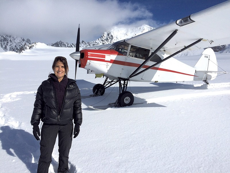 Robin Guillian on Swiftsure Glacier in Alaska in May - COURTESY OF ROBIN GUILLIAN