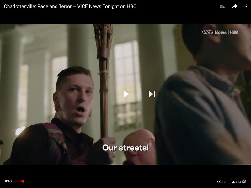Ryan Roy in the VICE News video - SCREENSHOT
