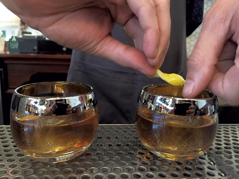 Rum old fashioneds at the Great Northern - SALLY POLLAK