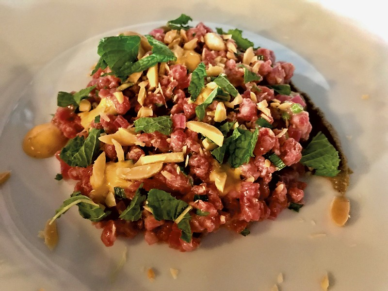 Beef tartar from Dedalus - SUZANNE PODHAIZER