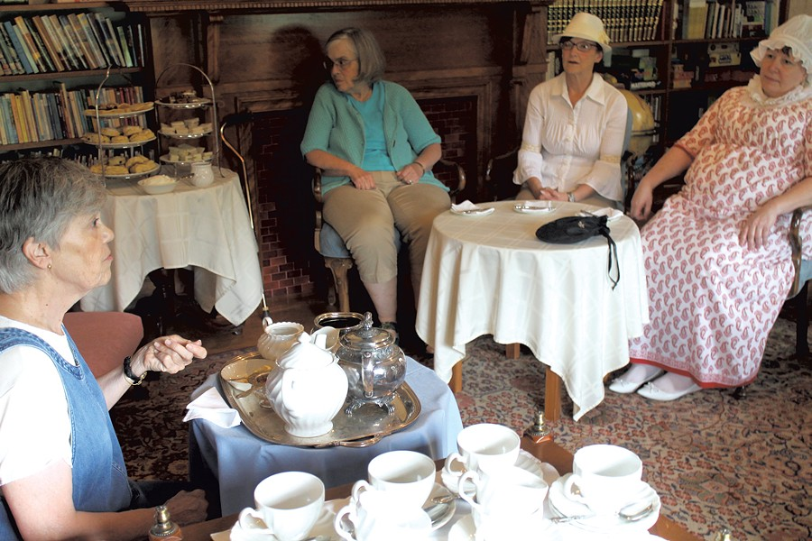 Suzanne Boden (left) and guests at an Austen weekend - JULIA SHIPLEY