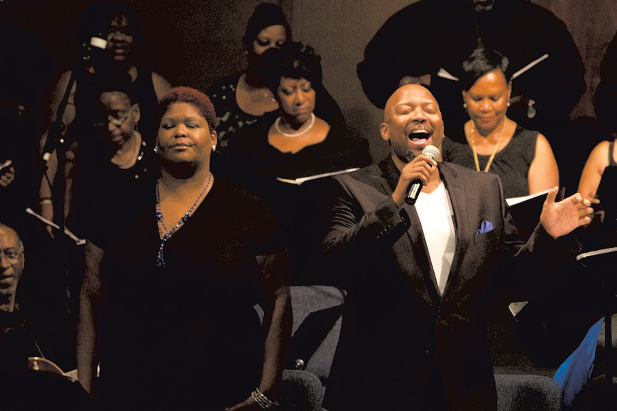Singers in Antigone in Ferguson - COURTESY OF THEATER OF WAR PRODUCTIONS