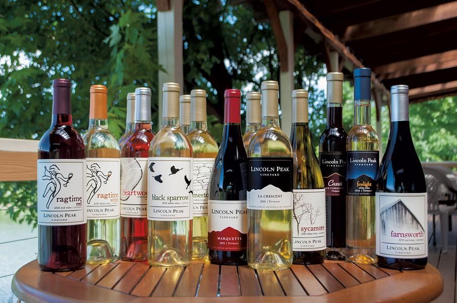 Lincoln Peak Vineyard wines - COURTESY OF LINCOLN PEAK VINEYARD