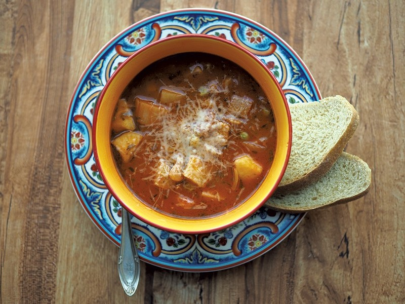 Roasted Vegetable Minestrone Soup - ANDY BRUMBAUGH