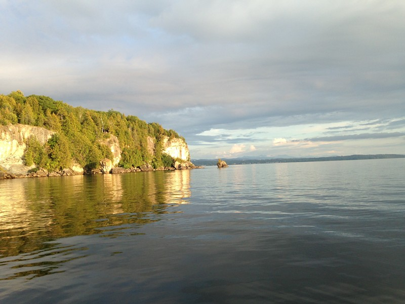 View of Lone Rock Point from Lake Champlain - MOLLY WALSH/SEVEN DAYS