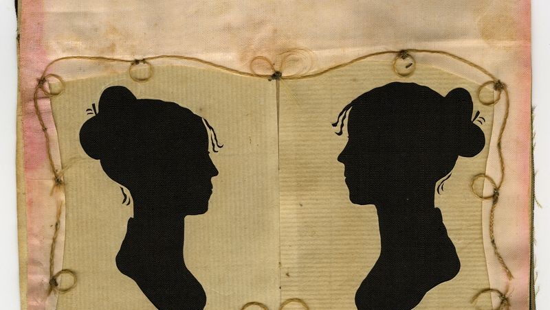 Silhouettes of Sylvia Drake and Charity Bryant, circa 1805–15