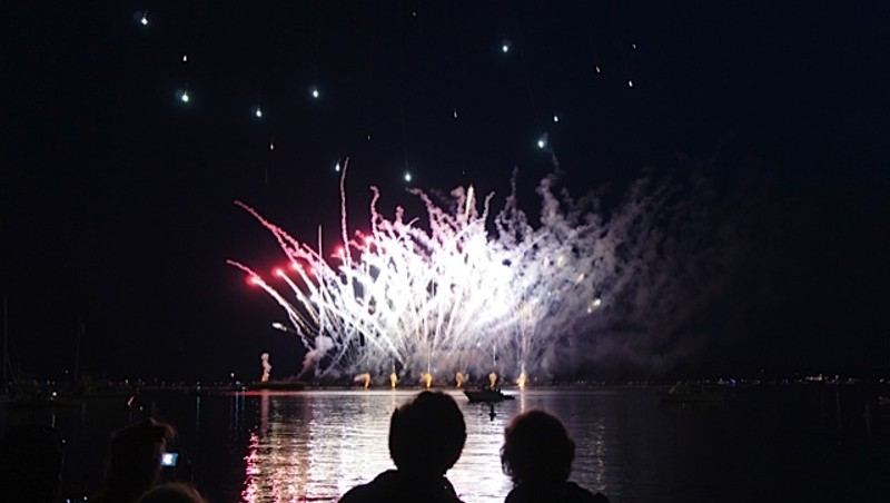 July 3rd fireworks spectacle at Burlington's waterfront