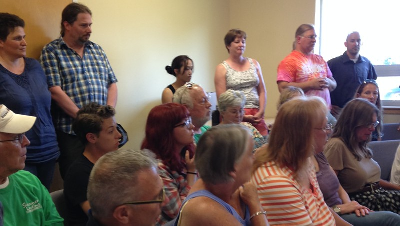 The crowd at the parks commission meeting
