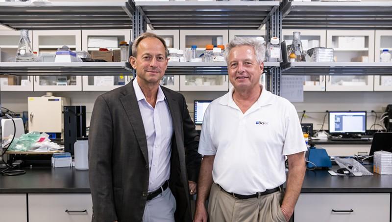 Briar and Adam Alpert at BioTek's Winooski headquarters