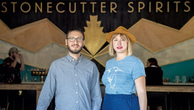 Sivan Cotel and Sas Stewart, cofounders of Stonecutter Spirits