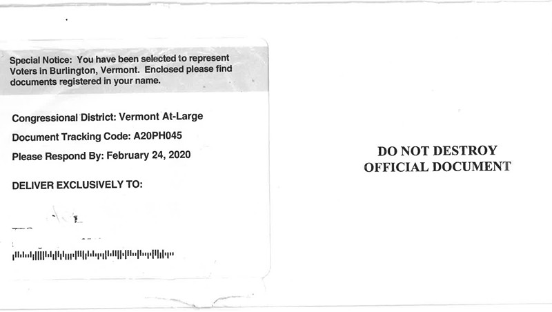 RNC Sends Vermonter an Imitation Census Form Asking for Political Donation
