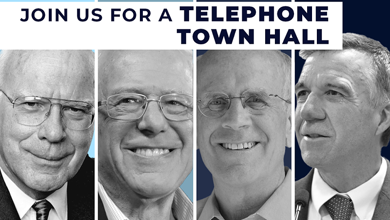 Leahy, Sanders, Welch and Scott Hold Virtual Town Hall on Coronavirus