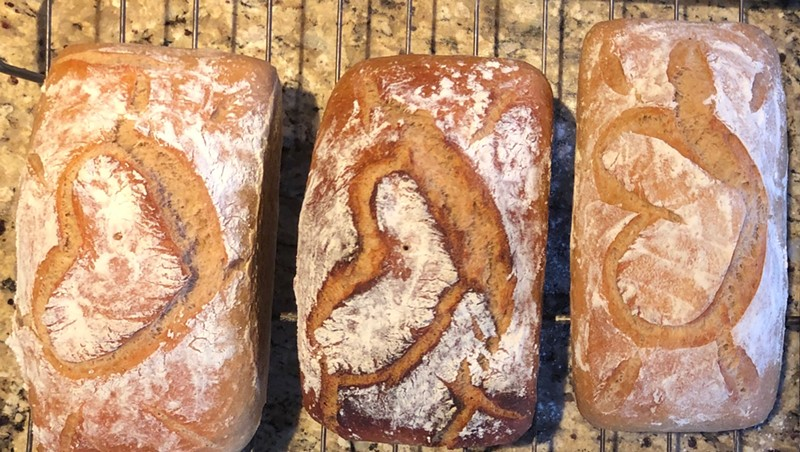 """""""Bread Fairy"""" loaves ready for delivery"""