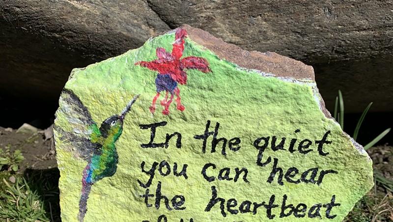 A Love Rock in South Burlington