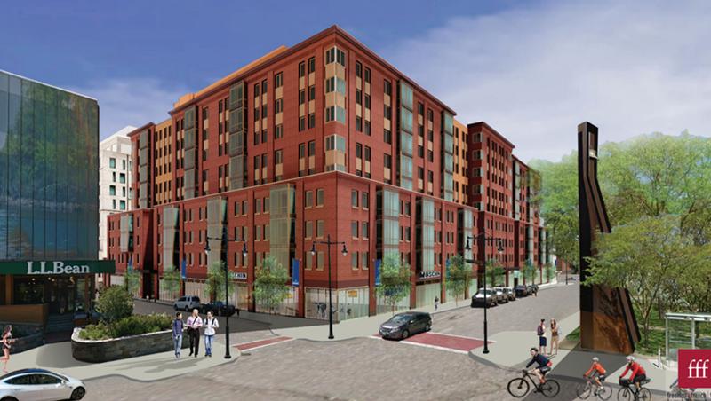 A rendering of CityPlace Burlington on Cherry Street