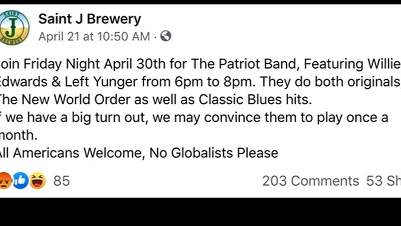 St. Johnsbury Brewery Tells 'Globalists' to Stay Away
