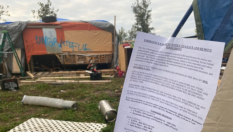 Residents Evicted from Burlington Homeless Encampment Following Arrests
