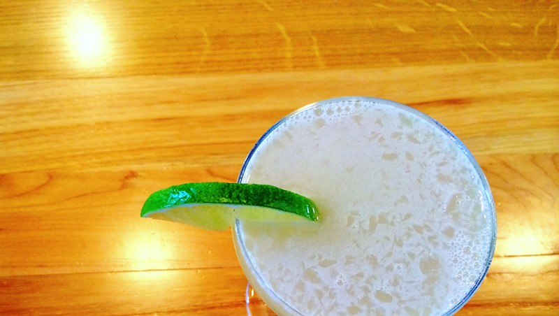 The Barr Hill Gin Gimlet at American Flatbread, Middlebury Hearth
