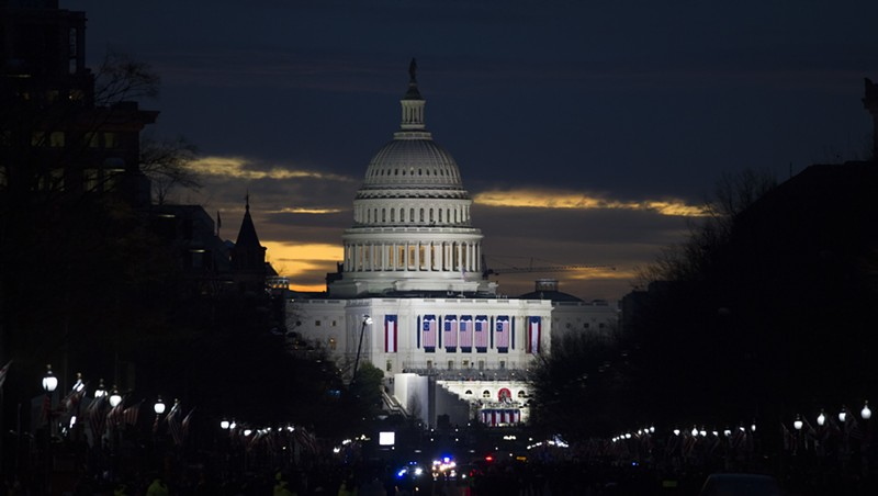 The Capitol on Friday morning
