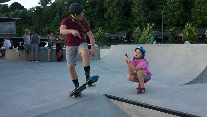 The Parmelee Post: Rad Dad Will Totally Let Daughter Skate as Soon as She Takes a Good Photo of Him