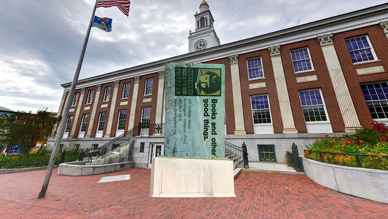 The Parmelee Post: In Effort to Preserve History, Burlington Erects Library Card Statue