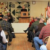 Town Meeting Day in Kirby The Kirby town meeting convenes. Nancy Piette