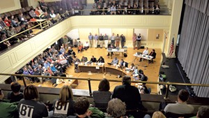 Scene from the October 30 Burlington City Council meeting