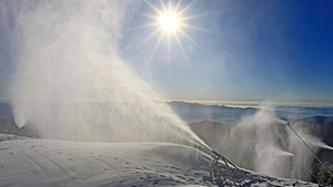 Snowmaking at Stowe last week