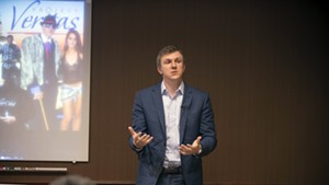 James O'Keefe speaking in Middlebury