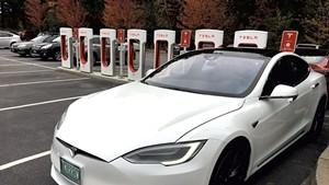 Tesla Supercharger station at Healthy Living Market & Café