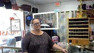 Tina Brady at her consignment store