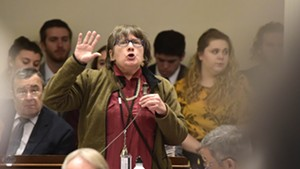 Rep. Cynthia Browning (D-Arlington) advocates Thursday on the House floor for limits on the cultivation of marijuana.