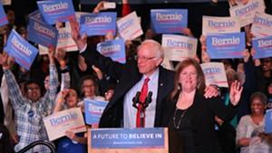Sen. Bernie Sanders and Jane O'Meara Sanders campaign in Reno, Nev., in February 2016.