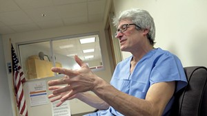 Dr. Steven Shapiro at his office in 2016