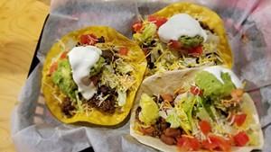 Tacos at La Casa Burrito